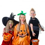 halloween kids white background
